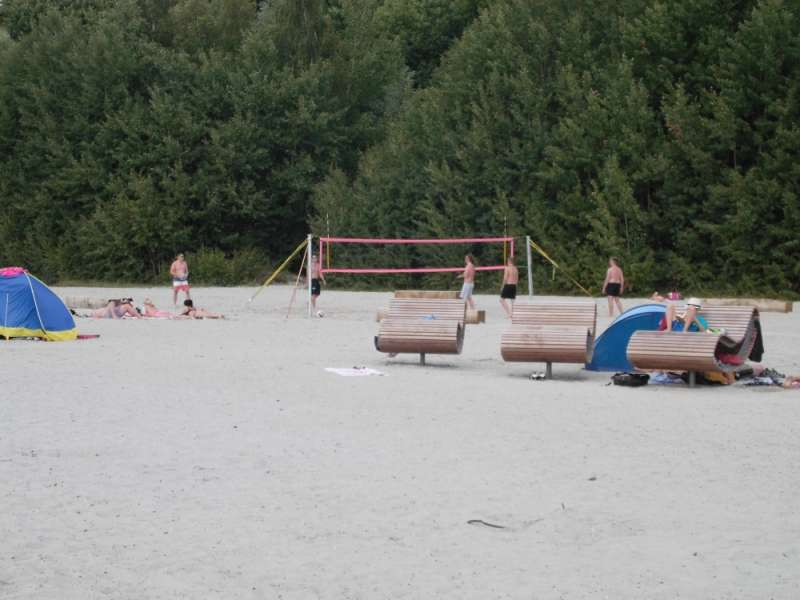 Volleyballfeld am Strand