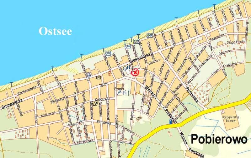 pobierowo karte Karte Pobierowo   Bildergalerie: Polen Ostsee Ferienwohnung